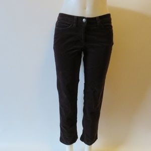 WOMENS EILEEN FISHER BROWN CORDUROY PANTS SZ PS*